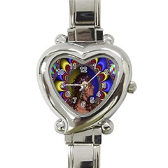 New Romantic Heart Italian Charm Watch  by icarusismartdesigns
