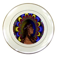 New Romantic Porcelain Display Plate by icarusismartdesigns