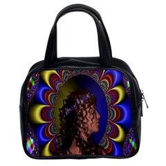 New Romantic Classic Handbag (two Sides) by icarusismartdesigns