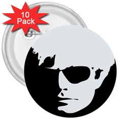 Warhol 3  Button (10 Pack) by icarusismartdesigns