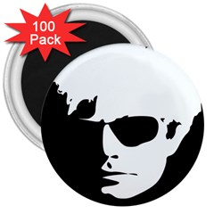 Warhol 3  Button Magnet (100 Pack) by icarusismartdesigns