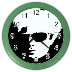Warhol Wall Clock (color) by icarusismartdesigns
