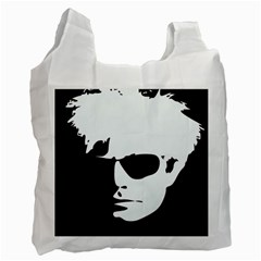 Warhol White Reusable Bag (one Side) by icarusismartdesigns