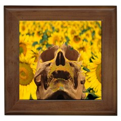 Sunflowers Framed Ceramic Tile by icarusismartdesigns