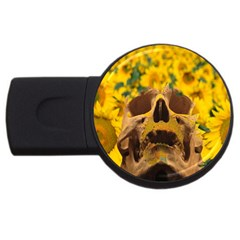 Sunflowers 4gb Usb Flash Drive (round) by icarusismartdesigns