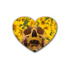 Sunflowers Drink Coasters (heart) by icarusismartdesigns