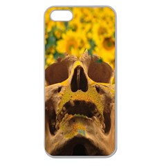 Sunflowers Apple Seamless Iphone 5 Case (clear) by icarusismartdesigns