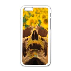 Sunflowers Apple Iphone 6 White Enamel Case by icarusismartdesigns