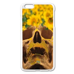 Sunflowers Apple Iphone 6 Plus Enamel White Case by icarusismartdesigns