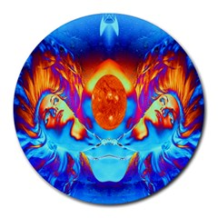 Escape From The Sun 8  Mouse Pad (round) by icarusismartdesigns