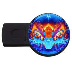 Escape From The Sun 2gb Usb Flash Drive (round) by icarusismartdesigns