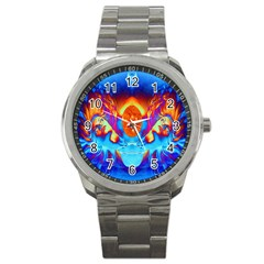 Escape From The Sun Sport Metal Watch by icarusismartdesigns