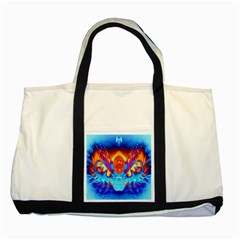 Escape From The Sun Two Toned Tote Bag by icarusismartdesigns