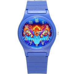 Escape From The Sun Plastic Sport Watch (small) by icarusismartdesigns