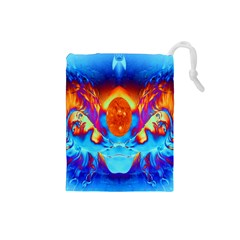 Escape From The Sun Drawstring Pouch (small) by icarusismartdesigns