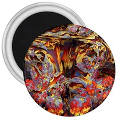 Abstract 4 3  Button Magnet by icarusismartdesigns