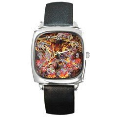 Abstract 4 Square Leather Watch by icarusismartdesigns