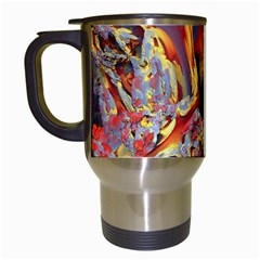 Abstract 4 Travel Mug (white) by icarusismartdesigns