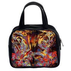 Abstract 4 Classic Handbag (two Sides) by icarusismartdesigns