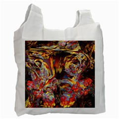 Abstract 4 White Reusable Bag (one Side) by icarusismartdesigns