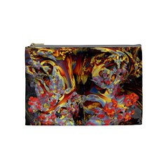 Abstract 4 Cosmetic Bag (medium) by icarusismartdesigns