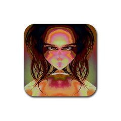 Cat Woman Drink Coasters 4 Pack (square) by icarusismartdesigns