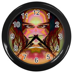 Cat Woman Wall Clock (black) by icarusismartdesigns