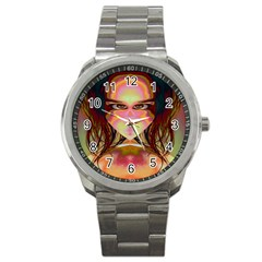 Cat Woman Sport Metal Watch by icarusismartdesigns