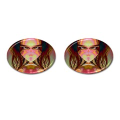 Cat Woman Cufflinks (oval) by icarusismartdesigns