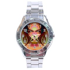 Cat Woman Stainless Steel Watch by icarusismartdesigns