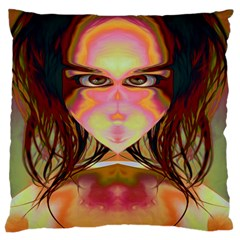 Cat Woman Large Cushion Case (single Sided)  by icarusismartdesigns