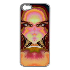 Cat Woman Apple Iphone 5 Case (silver) by icarusismartdesigns