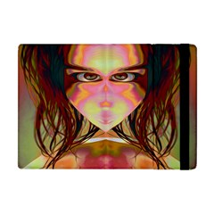 Cat Woman Apple Ipad Mini Flip Case by icarusismartdesigns