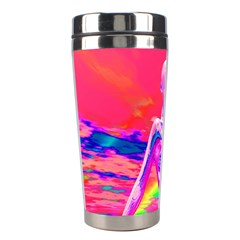 Cyborg Mask Stainless Steel Travel Tumbler by icarusismartdesigns