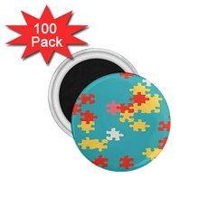 Puzzle Pieces 1 75  Button Magnet (100 Pack)