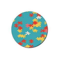 Puzzle Pieces Drink Coasters 4 Pack (round)
