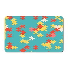 Puzzle Pieces Magnet (rectangular) by LalyLauraFLM