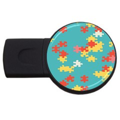 Puzzle Pieces 2gb Usb Flash Drive (round)