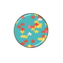 Puzzle Pieces Golf Ball Marker 4 Pack (for Hat Clip) by LalyLauraFLM