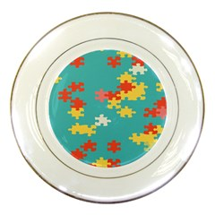 Puzzle Pieces Porcelain Display Plate by LalyLauraFLM