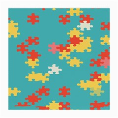 Puzzle Pieces Glasses Cloth (medium, Two Sided)