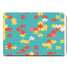 Puzzle Pieces Large Door Mat