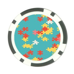 Puzzle Pieces Poker Chip by LalyLauraFLM