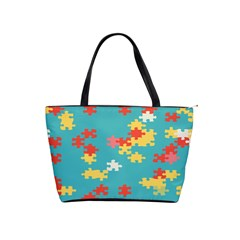 Puzzle Pieces Large Shoulder Bag