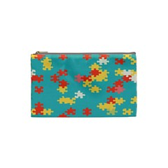 Puzzle Pieces Cosmetic Bag (small)