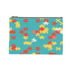 Puzzle Pieces Cosmetic Bag (large)