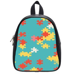 Puzzle Pieces School Bag (small) by LalyLauraFLM