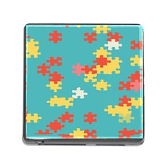 Puzzle Pieces Memory Card Reader With Storage (square)