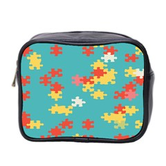 Puzzle Pieces Mini Travel Toiletry Bag (two Sides)