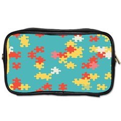 Puzzle Pieces Travel Toiletry Bag (two Sides)